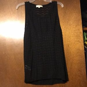 Rayon black tank top